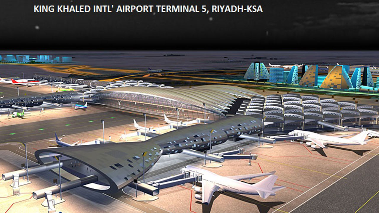 King Khaled Intl' Airport Terminal 5, Riyadh-KSA